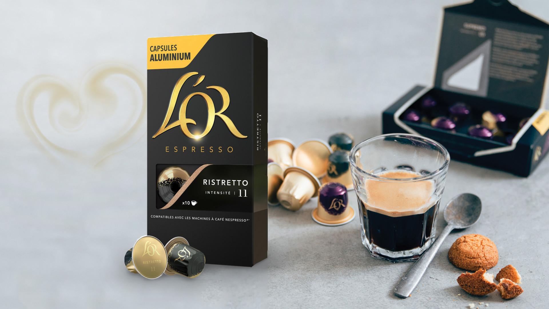 JDE | L'Or Espresso packaging design