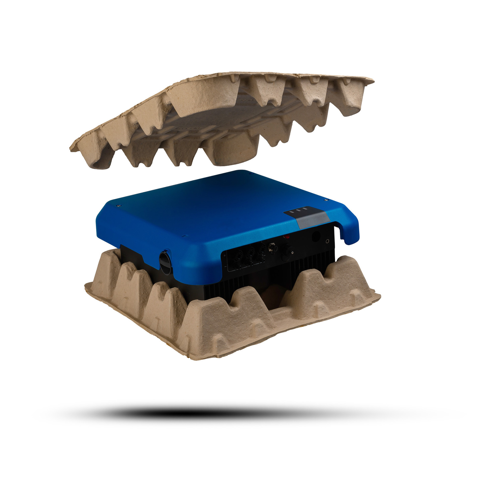 Pulp-Tec Faserguss Verpackung für Elektronikteile