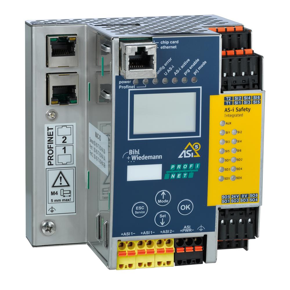 ASi-5/ASi-3 PROFIsafe über PROFINET Gateway mit integriertem Sicherheitsmonitor