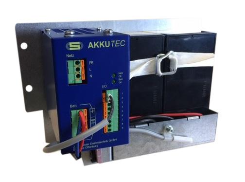 AKKUTEC 2403-3 auf Montageplatte: zuverlässig, sicher – einfach in der Handhabung.