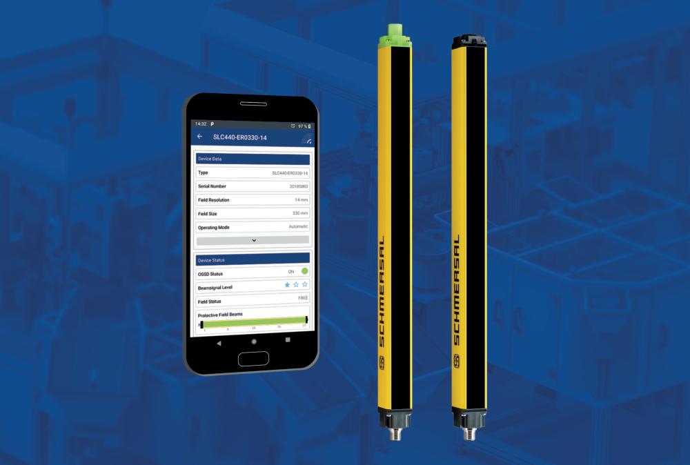Neues Sicherheitslichtgitter mit Bluetooth-Interface und App