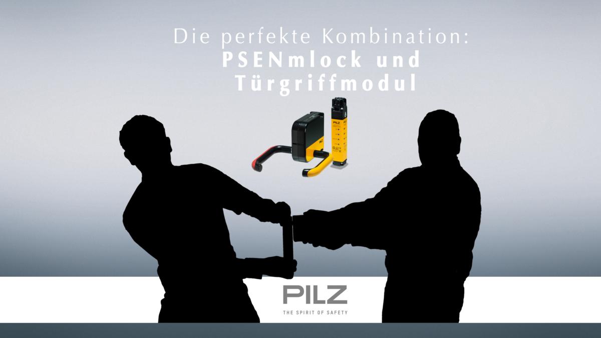 Kennen Sie schon die perfekte Kombination aus PSENmlock und Türgriffmodul? Verlässlich zusammenhalten wie Pech und Schwefel!
