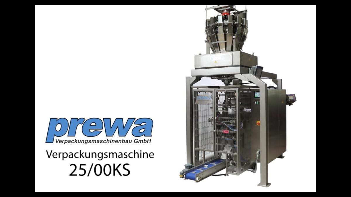 Vertikale Verpackungsmaschine prewa 25/00 KS