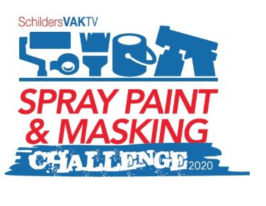 Spray paint challenge logo