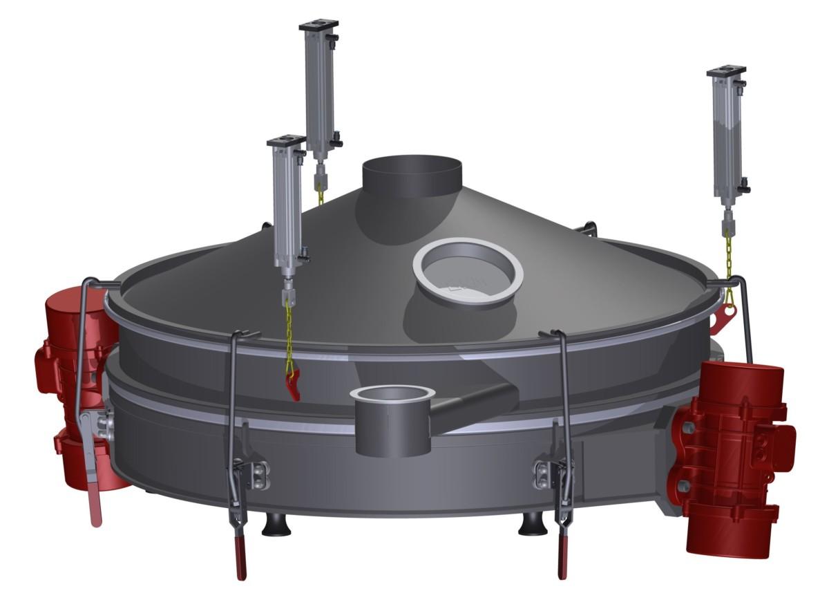 Neue pneumatische Hebevorrichtung – ideal für Vibrationssiebmaschinen