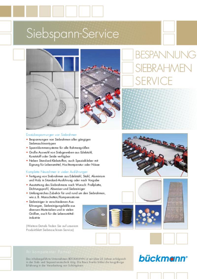 Siebspann-Service