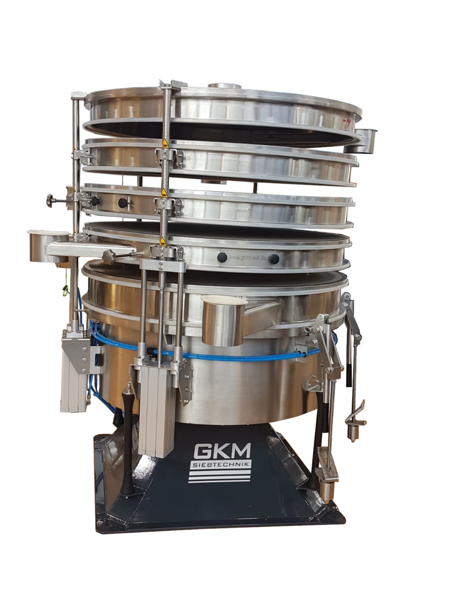 Reduzierung von Stillstandzeiten mit dem neuen pneumatischen Multi-Deck-Hebesystem von GKM Siebtechnik