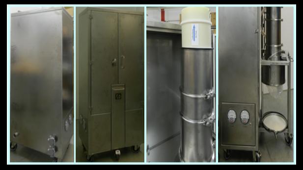 Patentierter Staubsauger mit Push-Push-System und Endlosschlauch für Containment-Bedarf