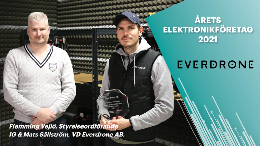 Everdrone- Årets elektronikföretag i Västsverige 2021