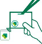 Olvida el contacto con el vistante, y de llenarle de folletos, con un simple toque de su tarjeta inteligente a tu lector de tarjetas, conseguirás sus datos.
