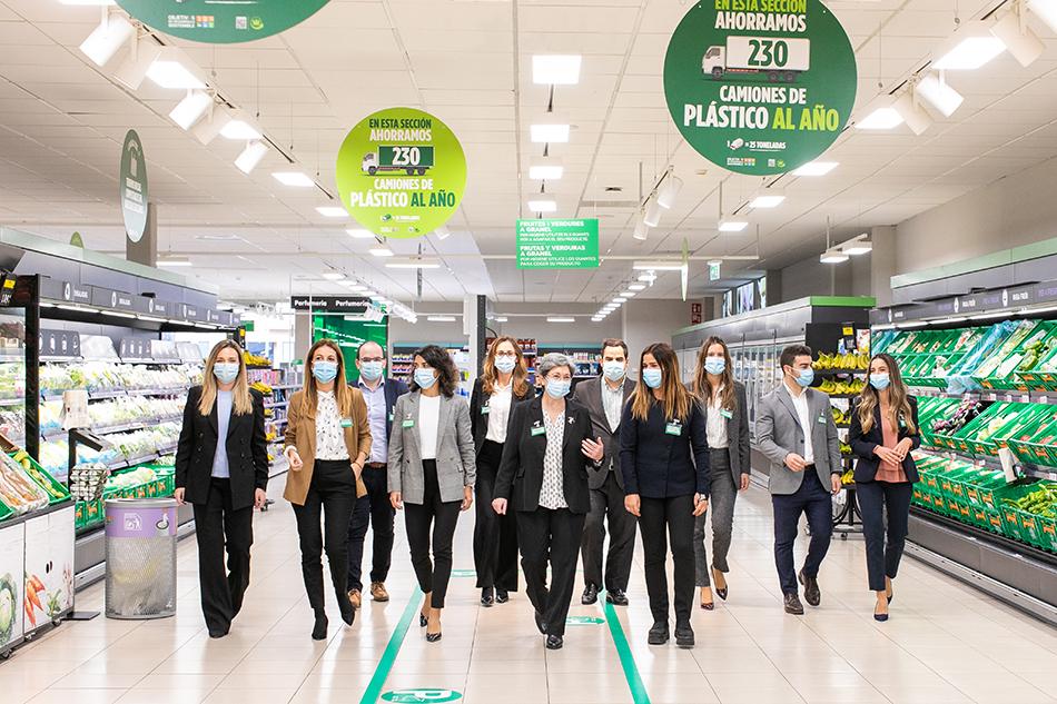Membros da equipa de trabalho da Estratégia 6.25 da Mercadona